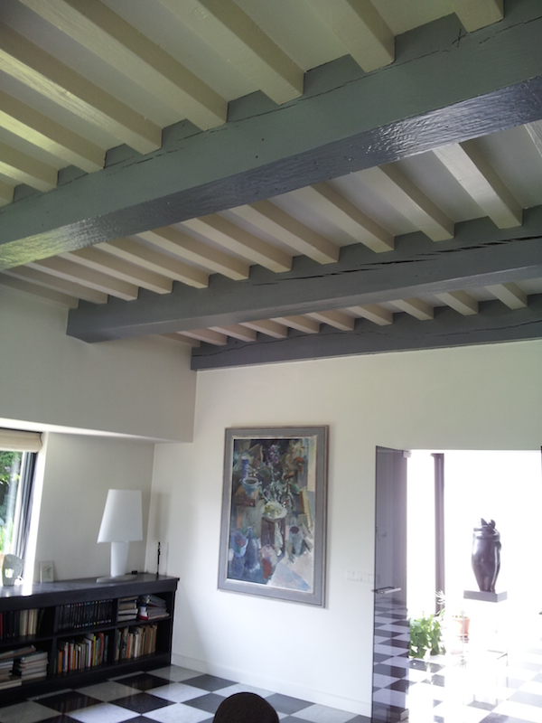 Photo design plafond joy studio design gallery best design - Balken grijs geschilderd ...